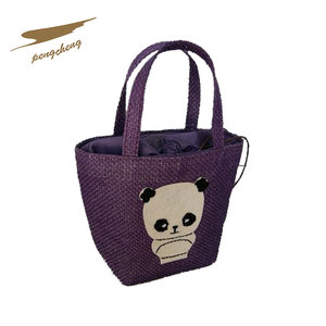 High quality paper straw children personalised bags for kidss online shopping