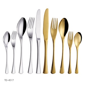 modern silverware cutlery set inox wholesale wedding 18/10 stainless steel gold flatware set