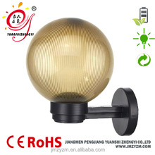decoration plastic ball garden lamps fixture for pathway wall mounted light