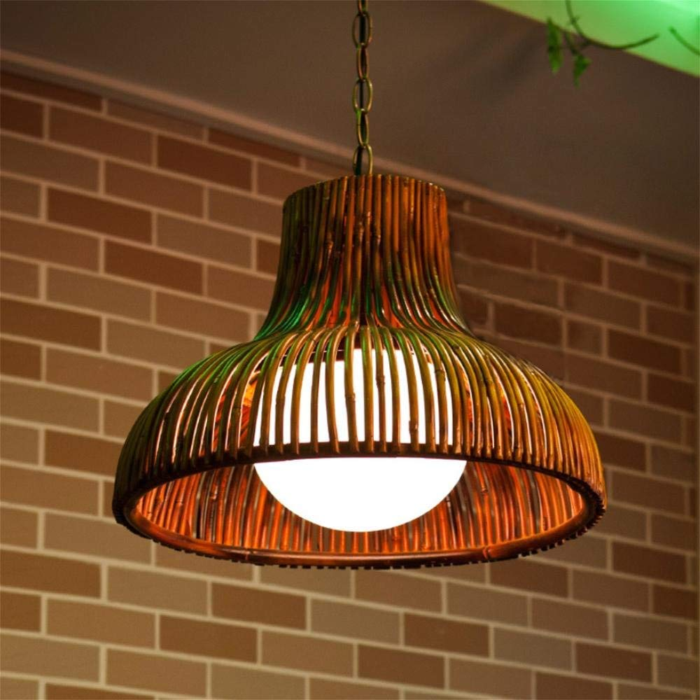 GAO LGDT Southeast Asian restaurant chandeliers, garden bamboo mahjong lights, hallway aisle bamboo lamp 40CM 80CM