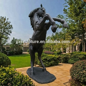 Life Size Cast Bronze Jumping Standing Rearing Horse Statues Garden Sculpture For Sale