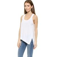 MS62743W new arrival women plain style white tops