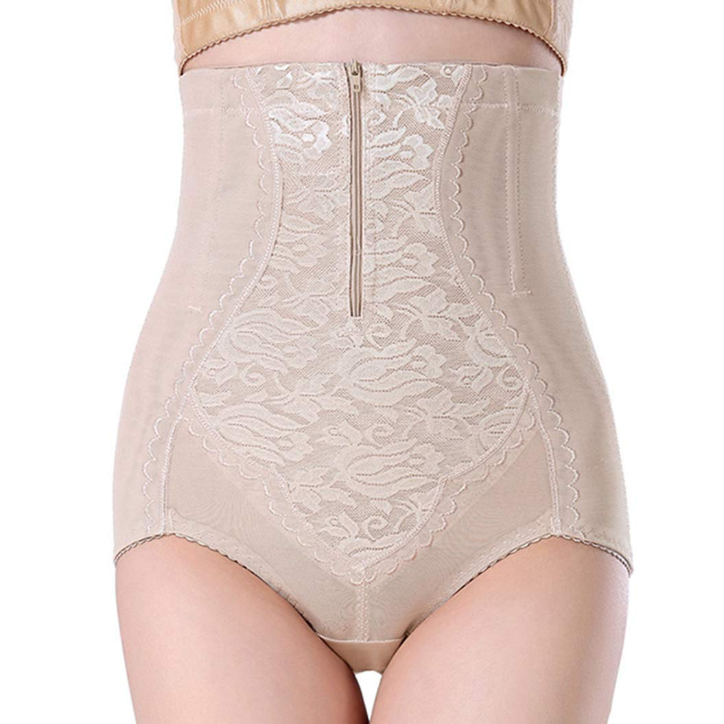 e604007a8772a ASO-SLING Womens High Waist Control Panties Lace Thin Zipper Smooth Bodysuit
