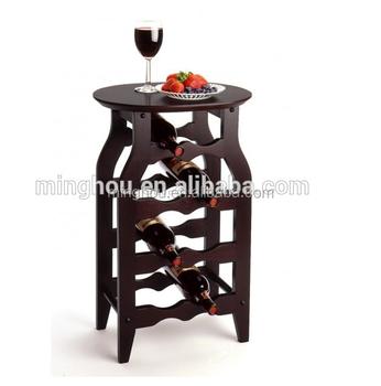 Minghou Wine Rack Home Furniture Wine Bottle Holder Table Made Of