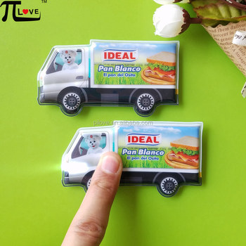 Custom hot sell give away gifts pvc truck shape led torch keychain / key chain