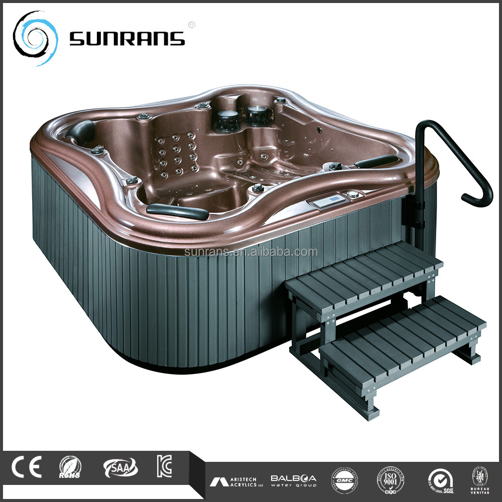 Sunrans hot sale CE Approved Indoor Freestanding Spa Wood Stove Hot Tub