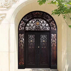 Factory price wrought iron exterior entry doors