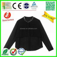 new style customized women silk dress shirts factory