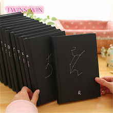 china school stationery 12 constellations custom notepad wholesale Tactile paper creative black notebook