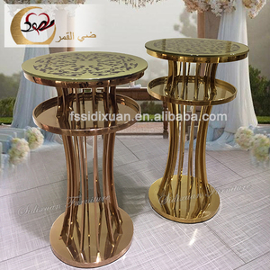cheap stainless steel base illuminated cool bar table sets