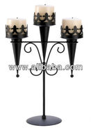 Iron Pillar Candle Holder 3 Arm