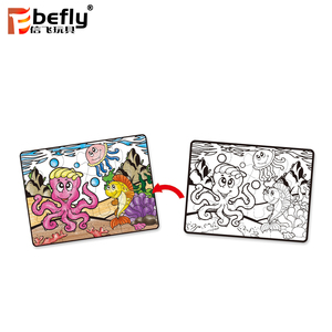 12 colors crayon cardboard drawing puzzle for kindergarten