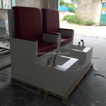 Modern pedicure chair of salon furniture nail spa red for Nail salon furniture suppliers