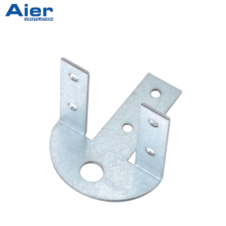 Holder with rubber vibration isolator for suspension of ventilation ducts
