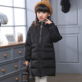 2016 New Arrive Hooded Jackets For Girls Children s Down Jacket Slim Long Thick Warm Winter