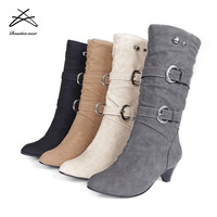 2018 latest design pretty women shoes ladies half boots ankle boot in China