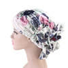 New Arrival Ladys Fashion Silky 3D Flower Turban Women Bridal Satin Headwear Muslim Head wrap Cap MTJM-203