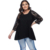 Women's sleeves stitching lace seven-point sleeves fat women's tops