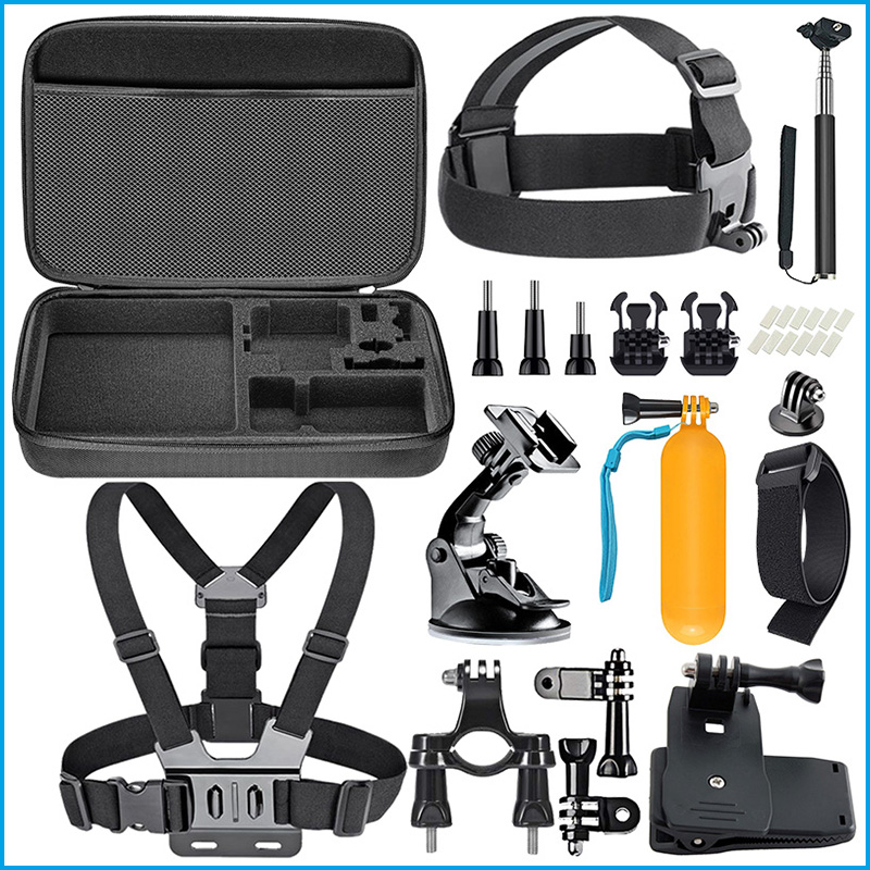 New For gopro 20 in 1F kit accessories set for go pro Action Camera Accessories dslr camera accessories