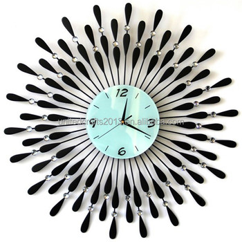 Acrylic Wall Clock Modern Design Crystal Mirror Watches Home Decoration