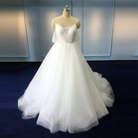 2017 Backless sling large tail Alibaba wedding dress