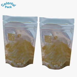 Smelly proof stand up plastic bag Tobacco pouch with ziplock