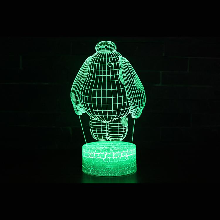 Christmas Gift Flashing Light Acrylic 3 D LED Kids Night Light