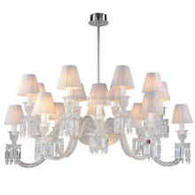 Modern fabric chrome baccarat chandeliers crystal
