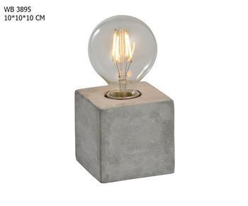 Industrial Concrete Square Base Edison Style Light Table Lamp Buy