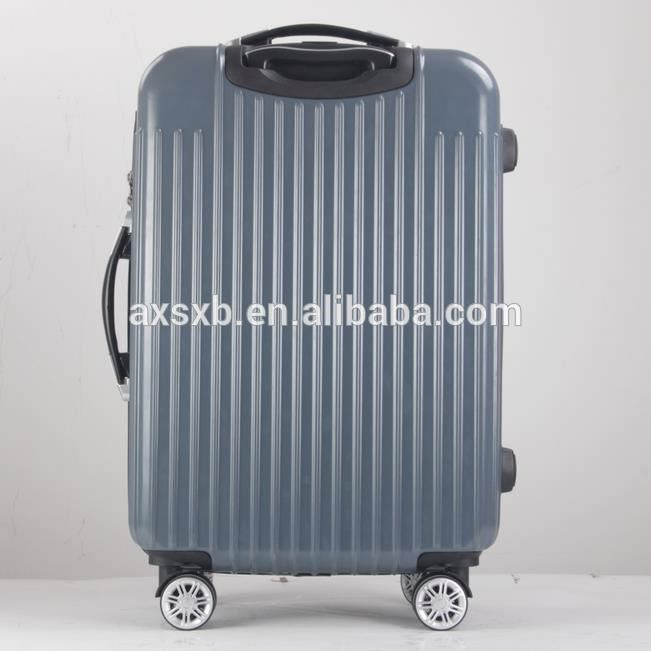 Factory colorful eminent hard luggage pc +abs zip trolley bag