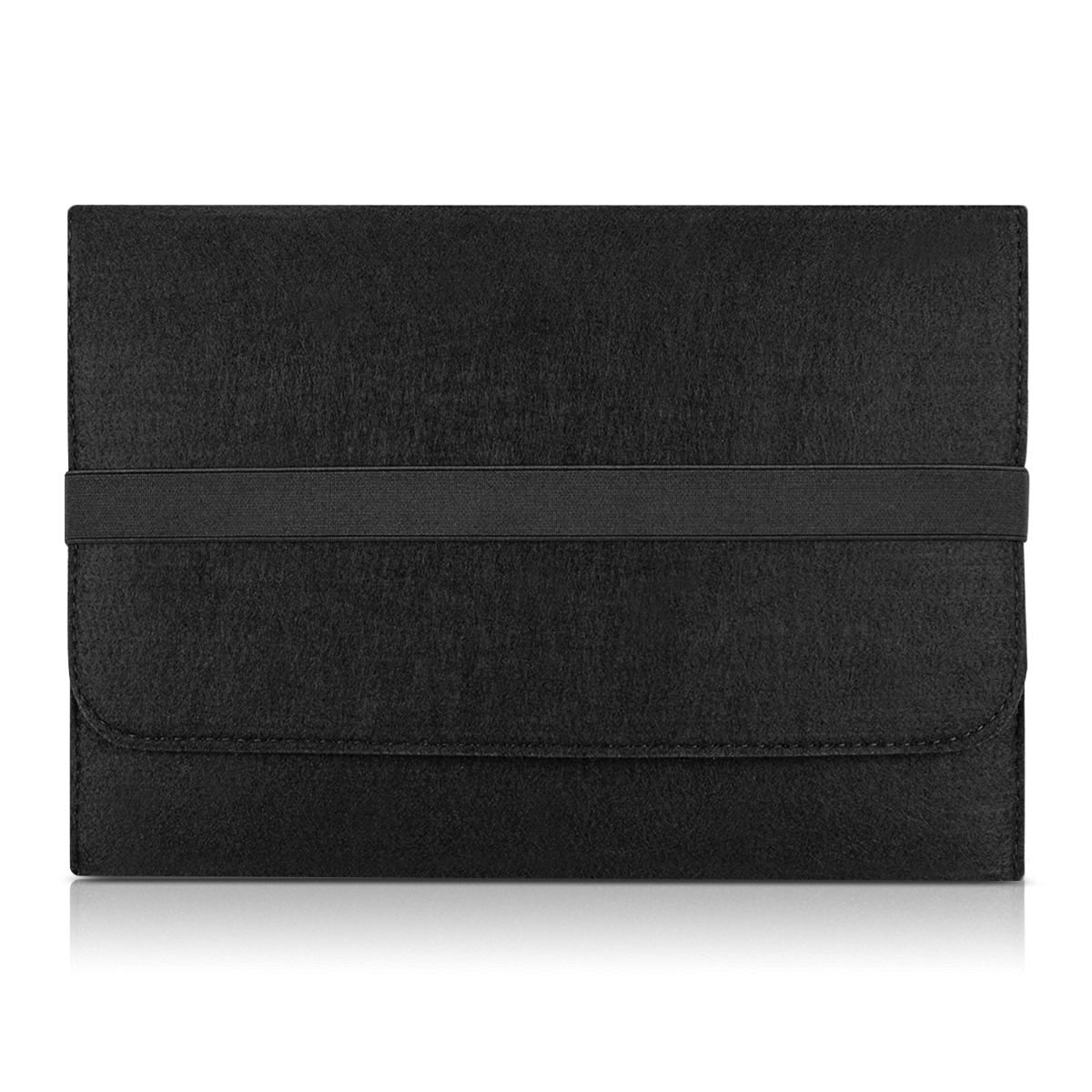 """kwmobile laptop cover felt case for 12,5"""" 13"""" 13,3"""" Laptop / Ultrabook - notebook bag protective cover in black with internal pockets Inner dimensions: approx. 34,5 x 26 cm"""