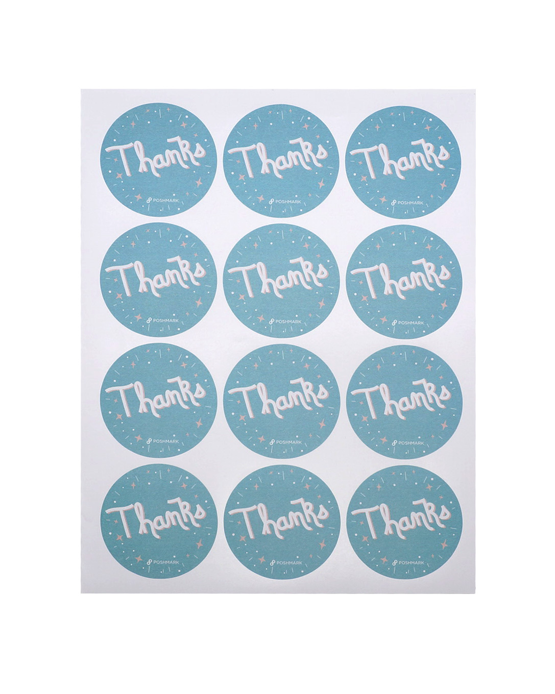 Writing Paper Thank You Label Sticker Customized Printing Can Be Write For Gift Bag Box Self Adhesive Labels Custom Printed