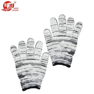 certified china direct sale plain cotton roping gloves