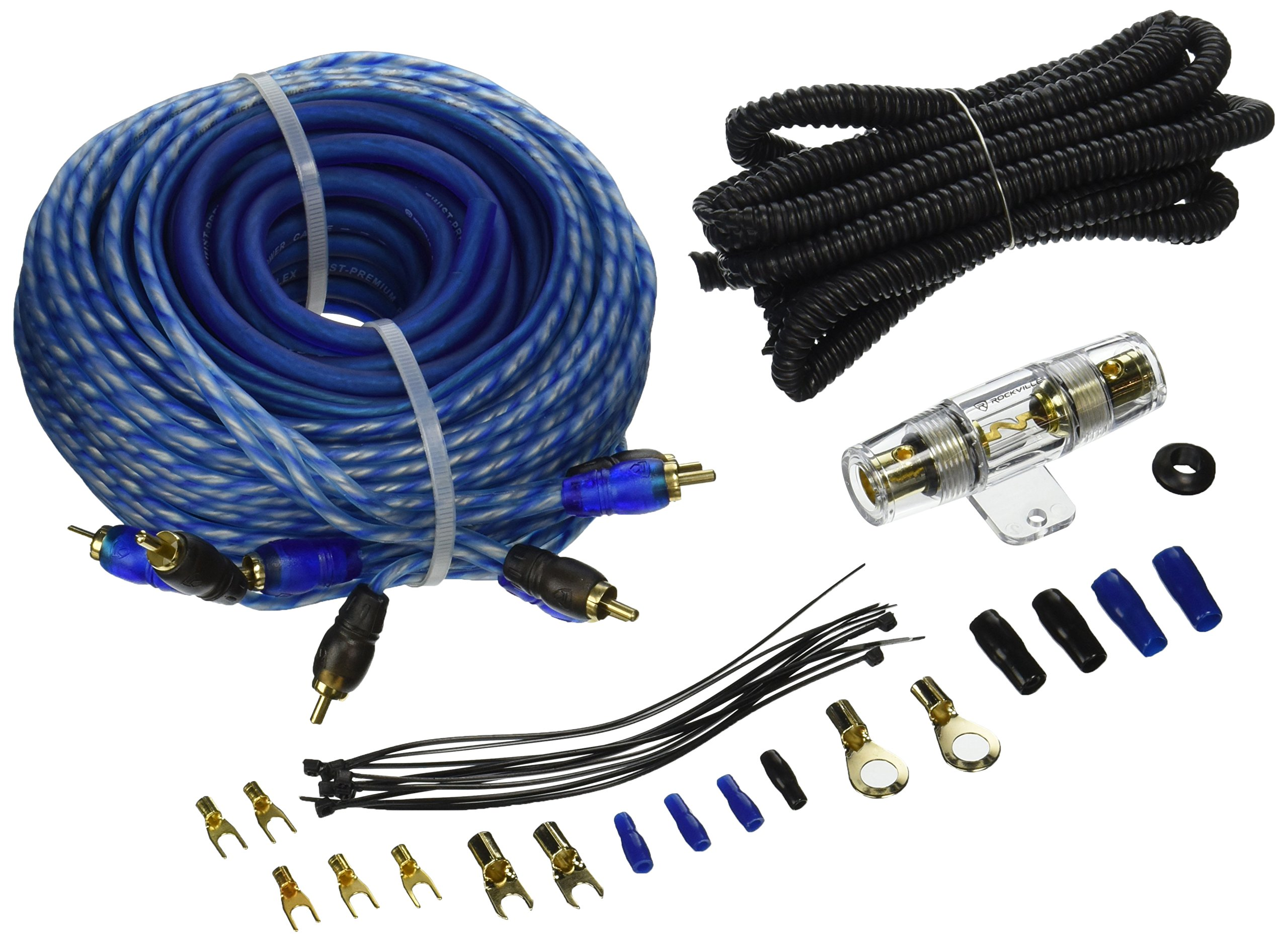 Pro 4 Gauge Amplifier Amp Install Wiring Kit Complete Car Audio Cables Cheap 0 Wire Find Deals On Line Get Quotations Rockville Rwk82 8 Chan Installation 2 Rcas