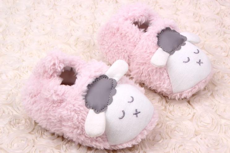 Autumn Winnter New Style 0 12 Months Infant Baby Girls Boys Cute 3D Cartoon Sheep Plush