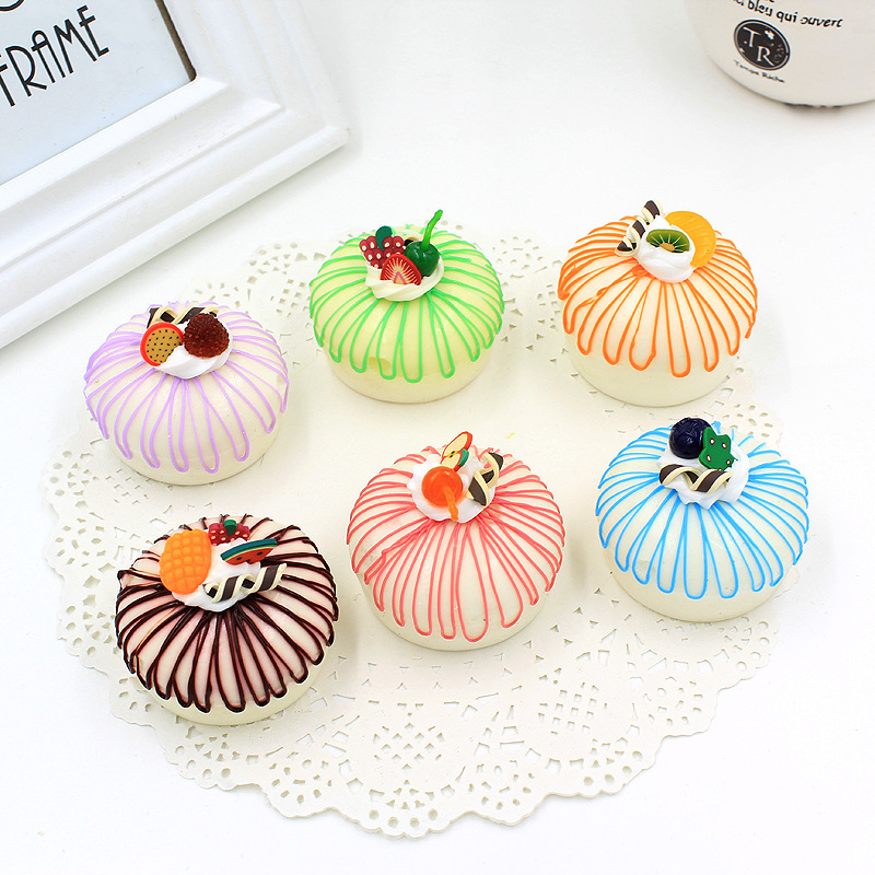 28pcs-5cm rare squishy Round cake Fridge Magnets Christmas gift Simulation Cream cake model gift squishies mix color