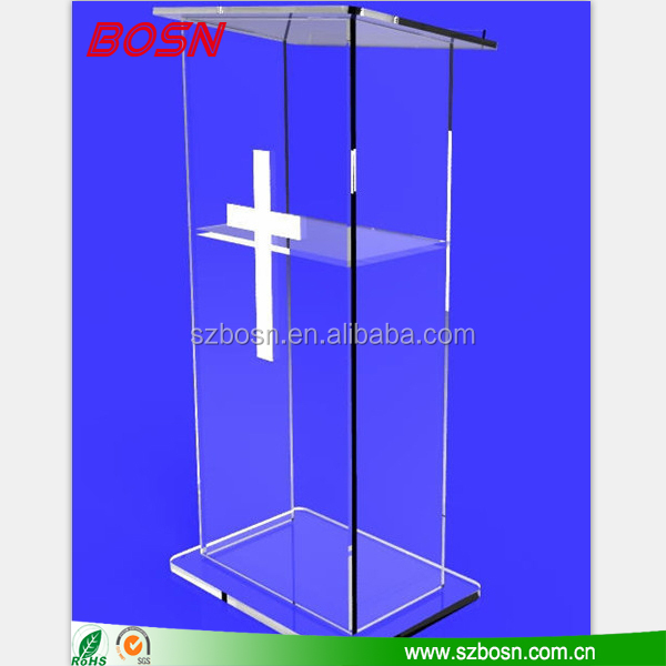 clear acrylic church pulpit,clear plastic church podium, acrylic podium pulpit lectern