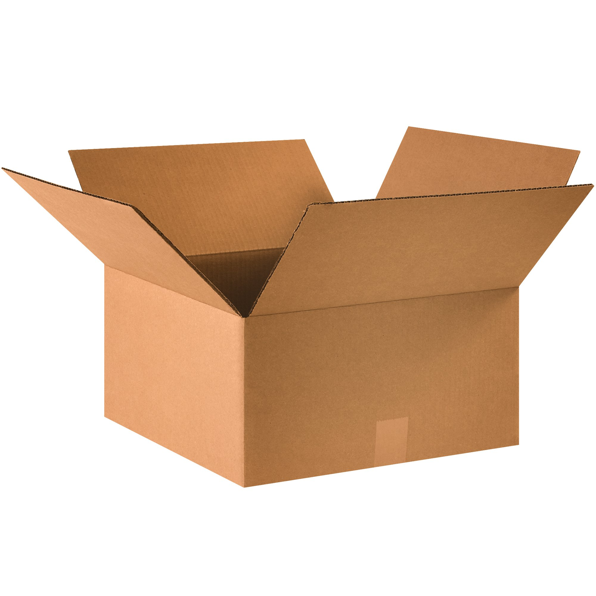 "Boxes Fast BF16168 Cardboard Boxes, 16"" x 16"" x 8"", Single Wall Corrugated, for Packing, Shipping, Moving and Storage, Kraft (Pack of 25)"