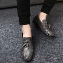2018 men fashion genuine leather business dress shoes fashion casual wedding work shoes