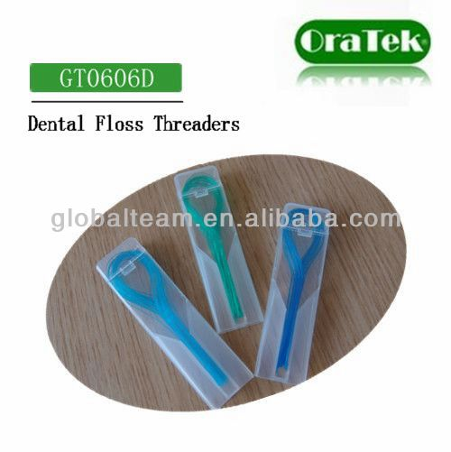 brand custom beauty Nylon dental floss threader supply