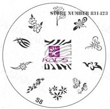 2015 S Series S8 Nail Polish DIY Stamping Plates Stainless Steel plate Nail Art Image Stamp