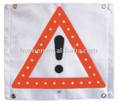 Soft magnetic LED flashing lighted directional warning arrow signs