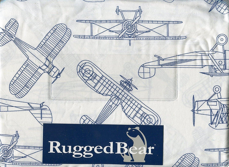 Rugged Bear Vintage Airplane Sheet Set, Twin Size