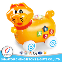 2017 new design educational sound battery operated toy cat