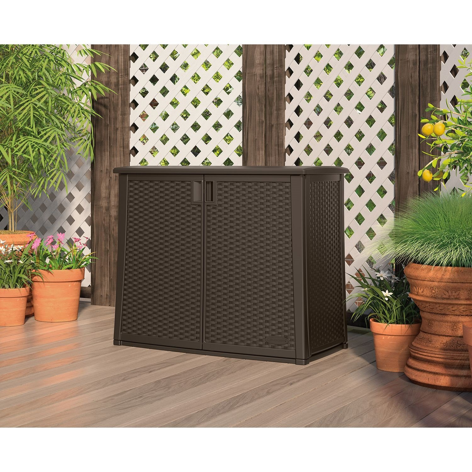 Get Quotations · 97-Gallon Outdoor Patio Cabinet Storage - Cheap Outdoor Patio Storage Cabinet, Find Outdoor Patio Storage