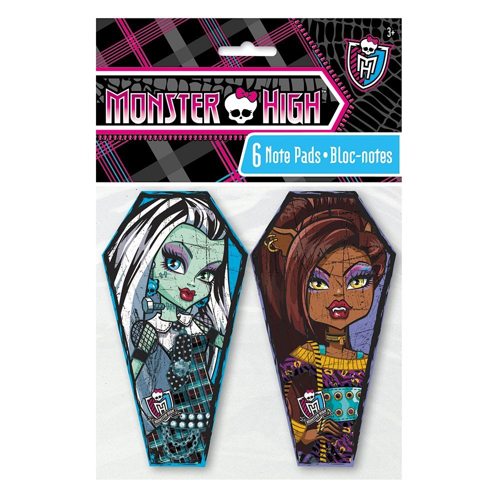 Mini Monster High Notepad Party Favors, 6ct
