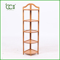 Bamboo 5-tier Corner Shelf / Corner Rack