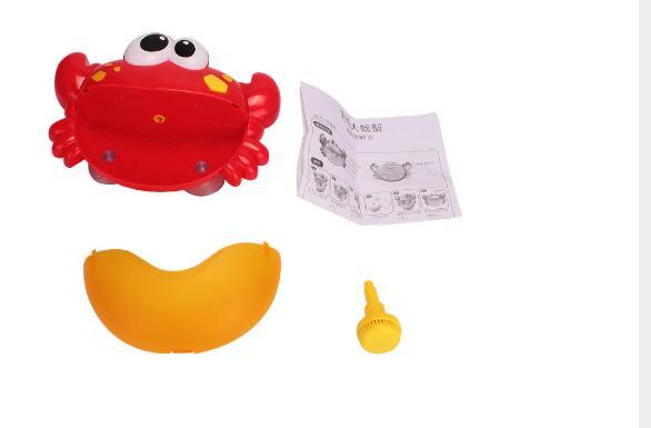 2018 cute water toys funny bath bubble maker children music crab bubble bath toy