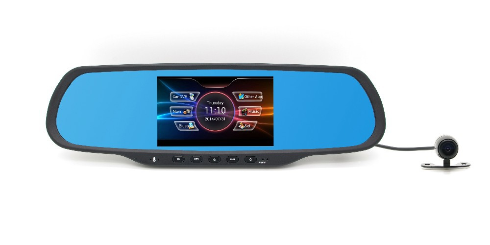 Seamless cycled recording wide angle dual car dash with bluetooth/wifi/GPS function