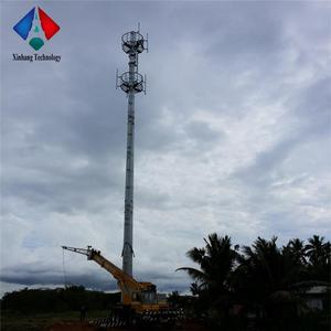 high quality galvanized steel telecommunication for base station gsm monopole tower